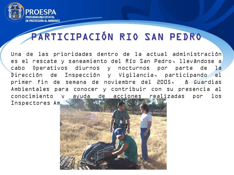 PARTICIPACIÓN RIO SAN PEDRO