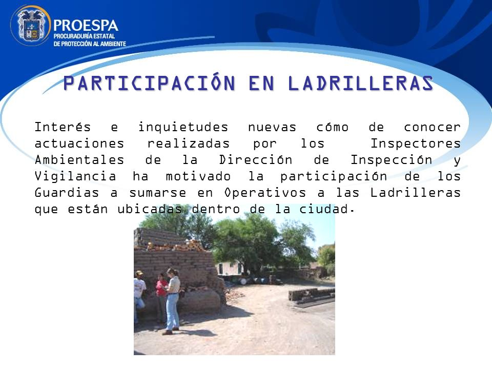 PARTICIPACIÓN EN LADRILLERAS