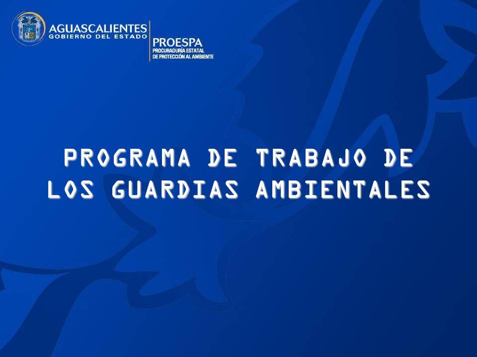 PROGRAMA DE TRABAJO DE LOS GUARDIAS AMBIENTALES