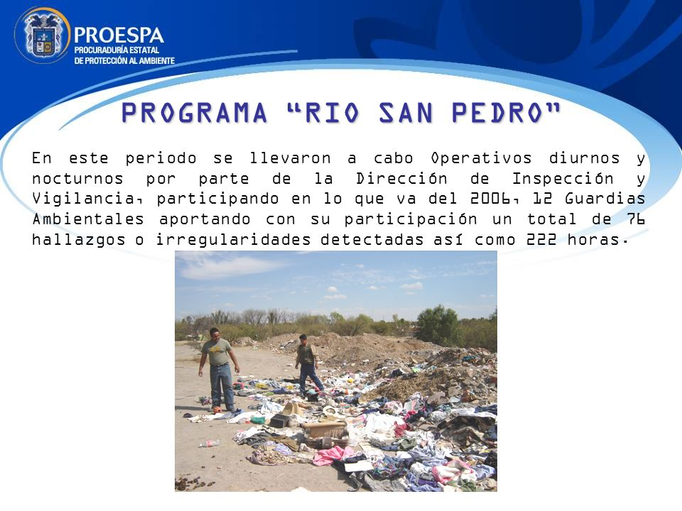 PROGRAMA RIO SAN PEDRO