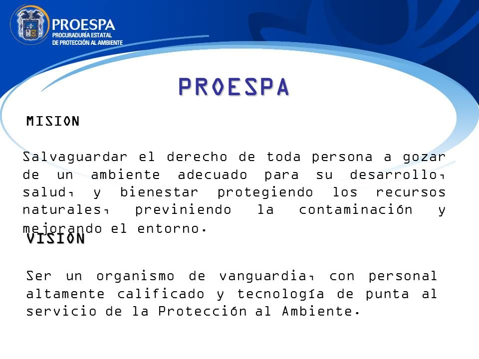 PROESPA MISION.