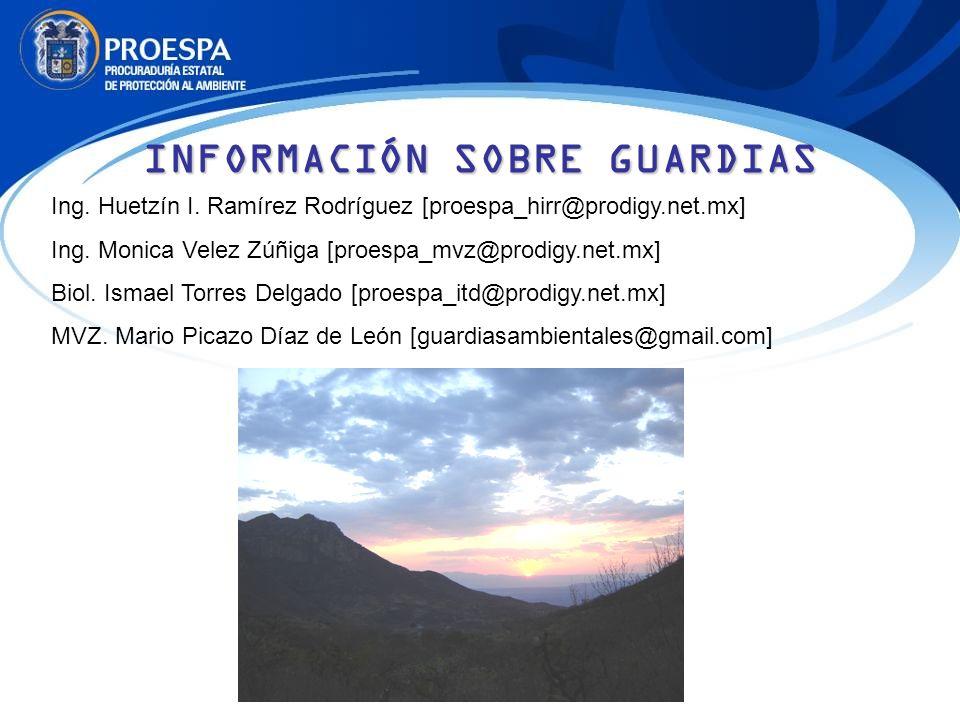 INFORMACIÓN SOBRE GUARDIAS