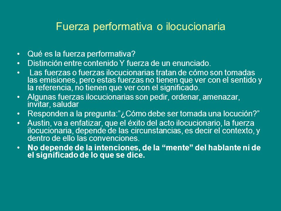 Fuerza performativa o ilocucionaria