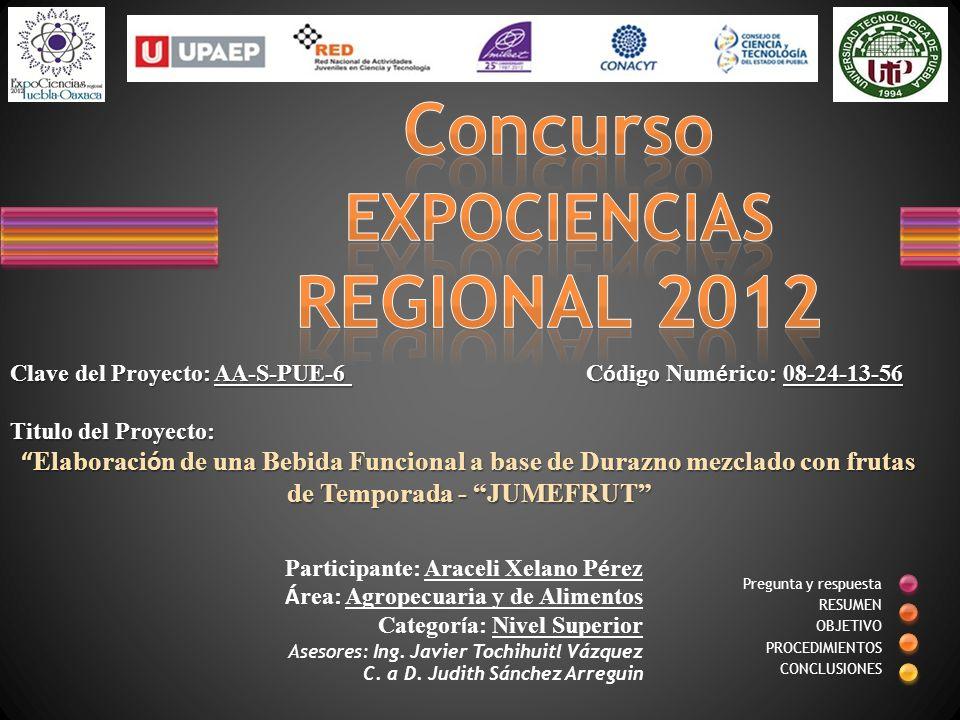 Concurso EXPOCIENCIAS REGIONAL 2012