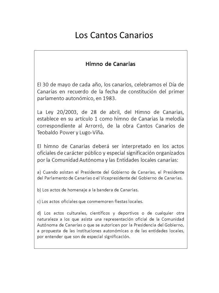 Los Cantos Canarios Himno de Canarias