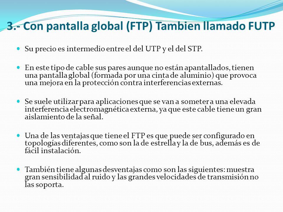 3.- Con pantalla global (FTP) Tambien llamado FUTP