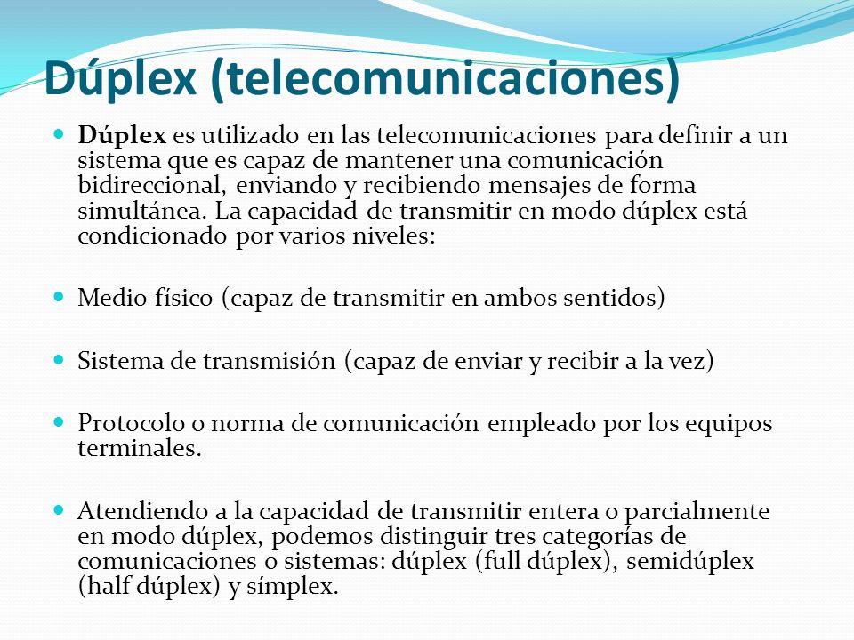 Dúplex (telecomunicaciones)