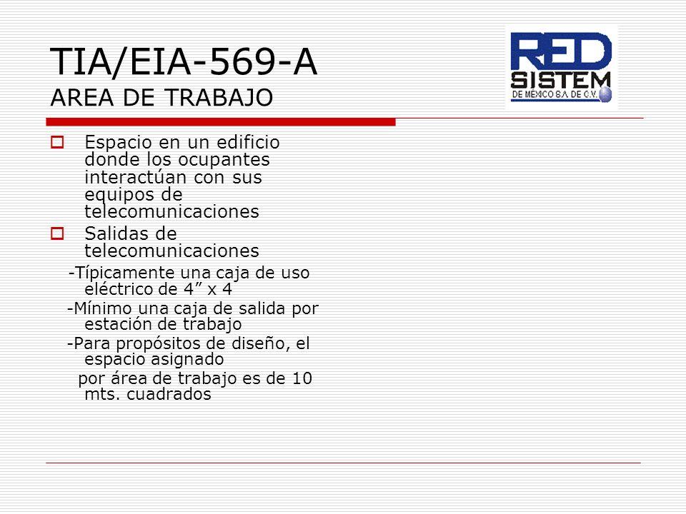 TIA/EIA-569-A AREA DE TRABAJO