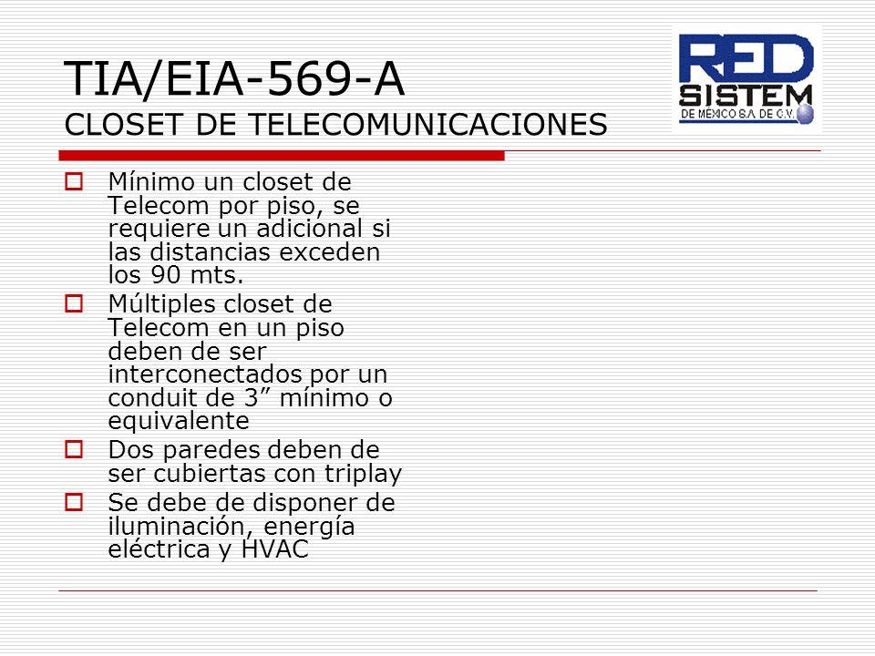 TIA/EIA-569-A CLOSET DE TELECOMUNICACIONES