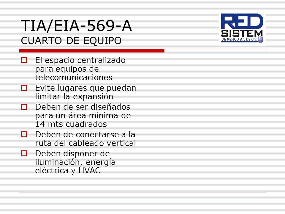 TIA/EIA-569-A CUARTO DE EQUIPO