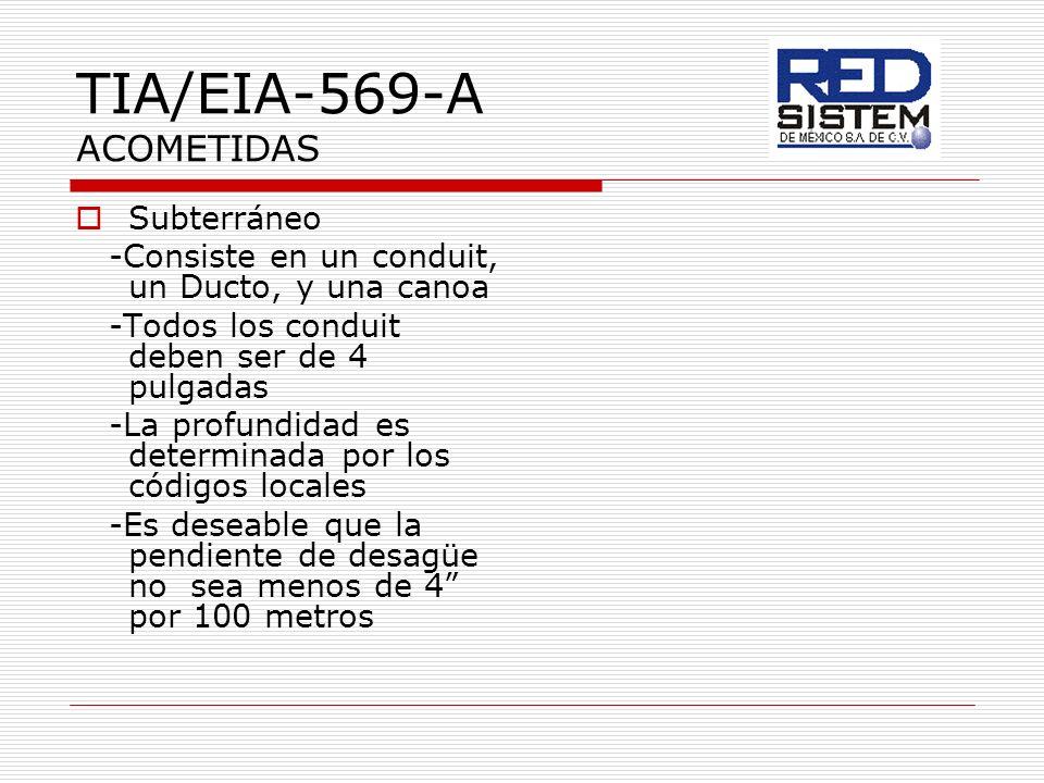 TIA/EIA-569-A ACOMETIDAS