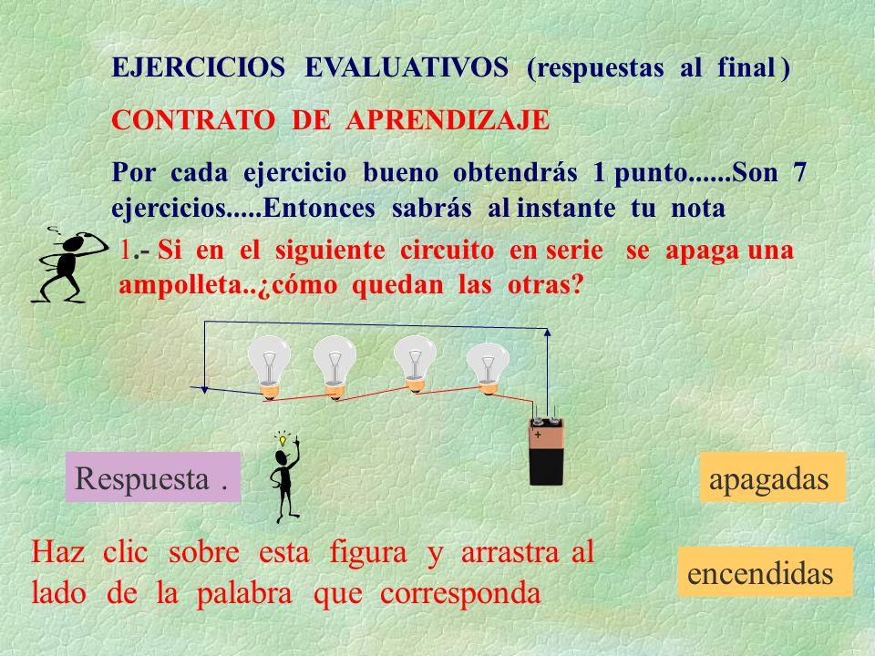 EJERCICIOS EVALUATIVOS (respuestas al final )