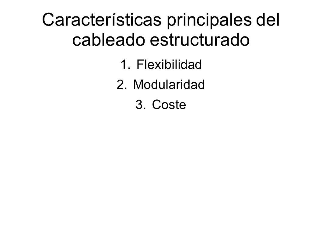 Características principales del cableado estructurado