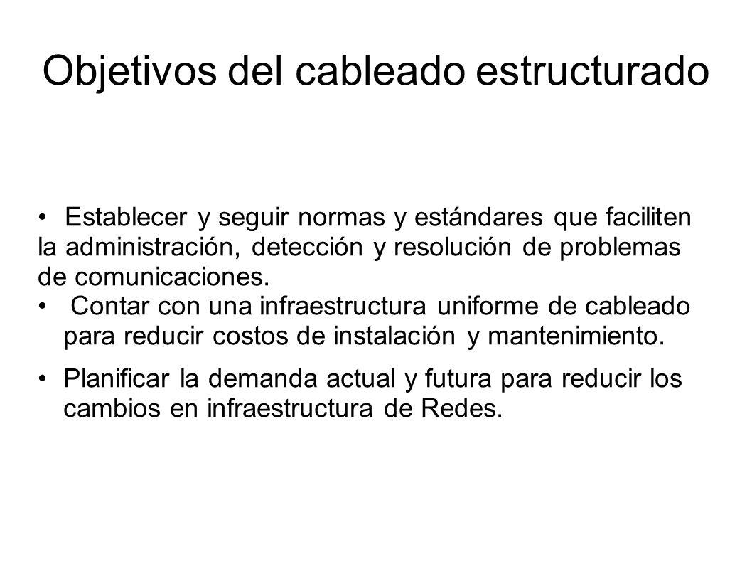 Objetivos del cableado estructurado