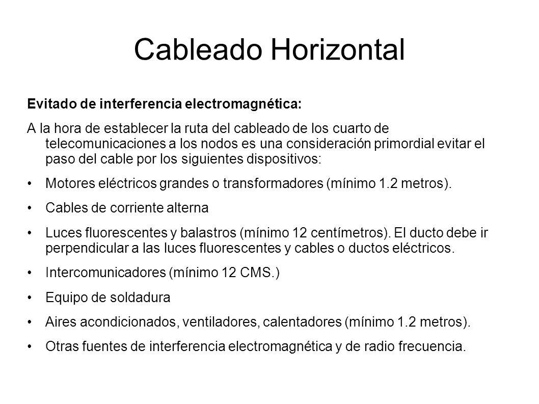 Cableado Horizontal Evitado de interferencia electromagnética: