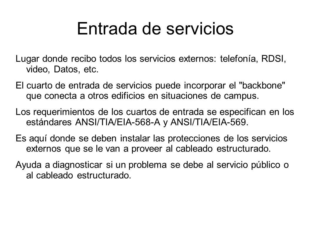 Entrada de servicios