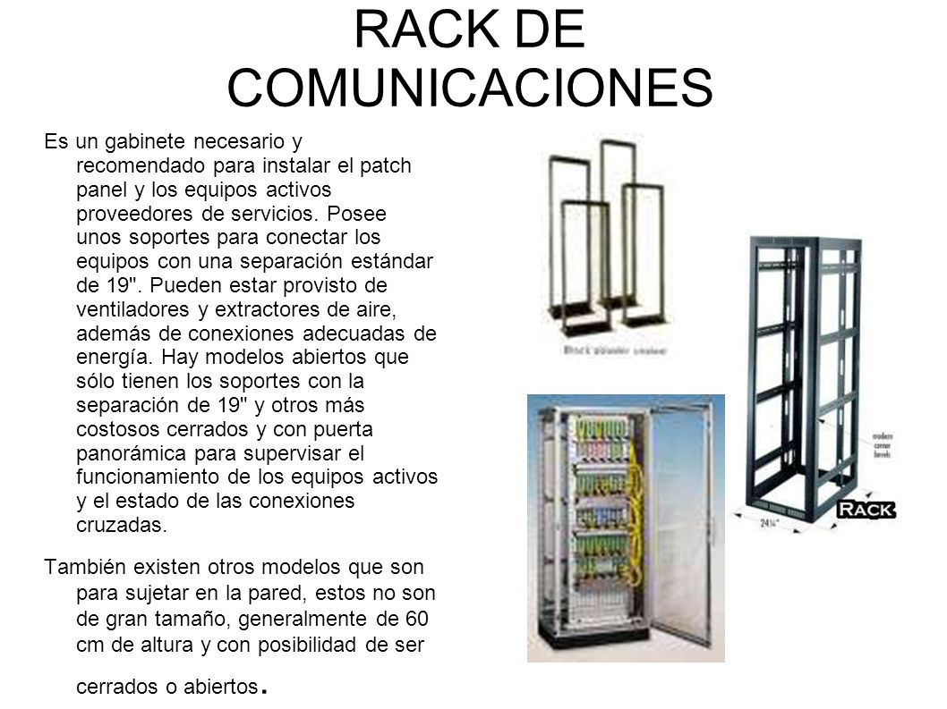 RACK DE COMUNICACIONES