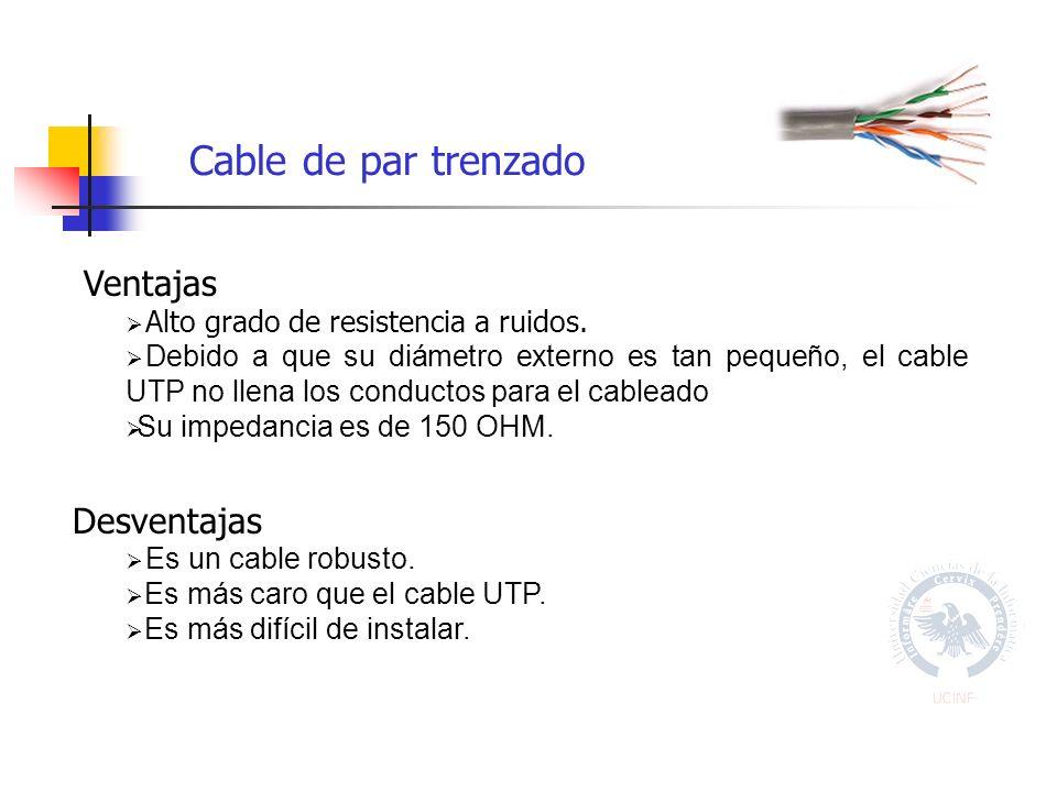 Cable de par trenzado Ventajas Desventajas