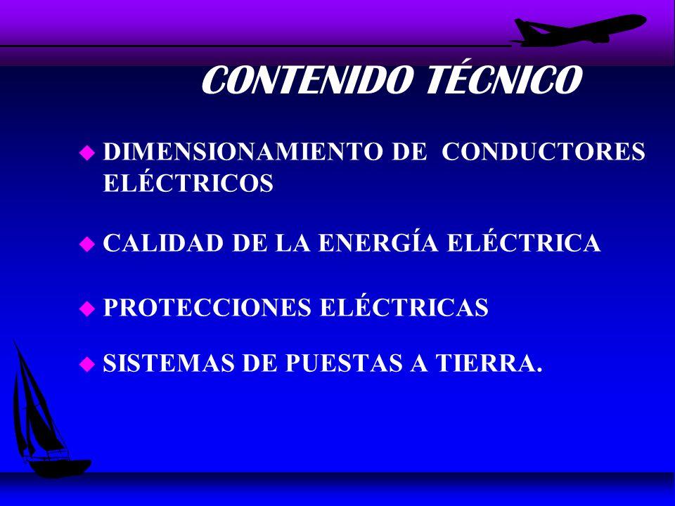CONTENIDO TÉCNICO DIMENSIONAMIENTO DE CONDUCTORES ELÉCTRICOS
