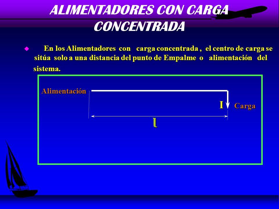 ALIMENTADORES CON CARGA CONCENTRADA