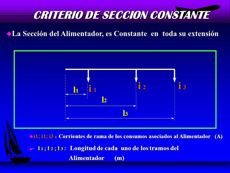 CRITERIO DE SECCION CONSTANTE