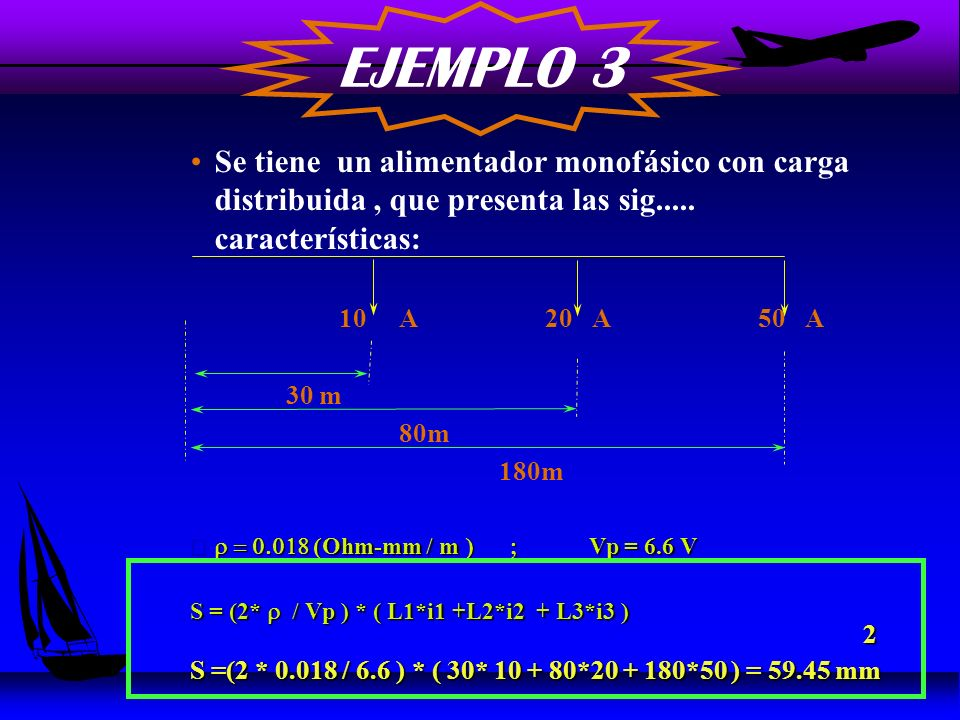 EJEMPLO 3 Se tiene un alimentador monofásico con carga distribuida , que presenta las sig..... características: