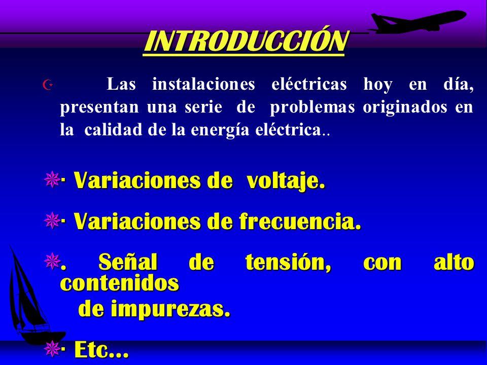INTRODUCCIÓN · Variaciones de voltaje. · Variaciones de frecuencia.