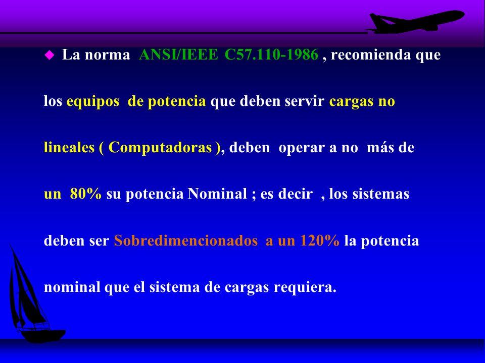 La norma ANSI/IEEE C57.110-1986 , recomienda que