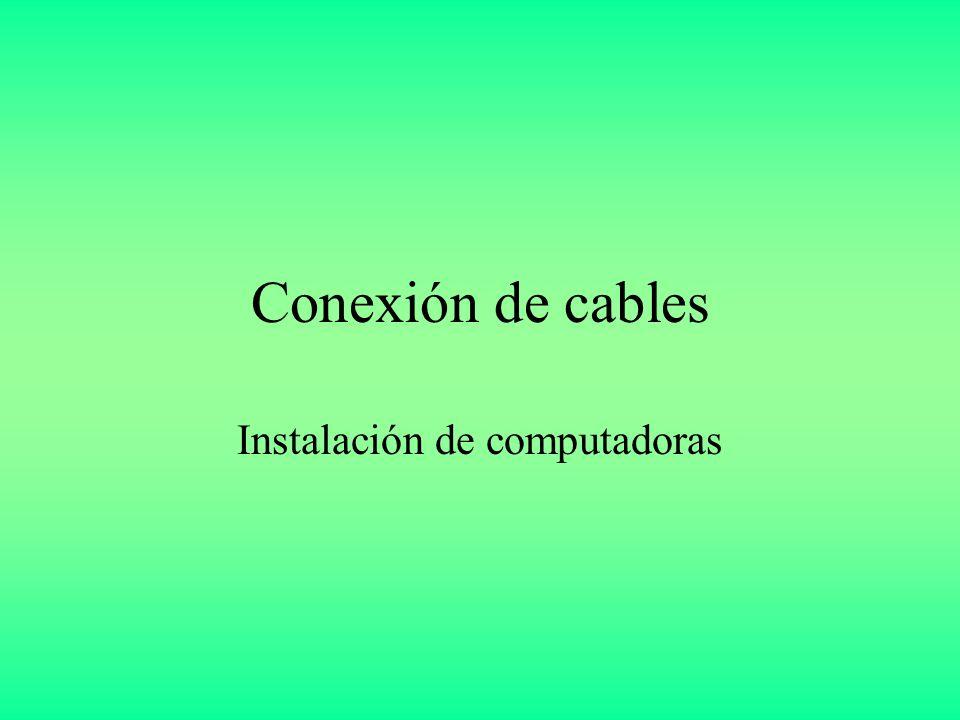 Instalación de computadoras