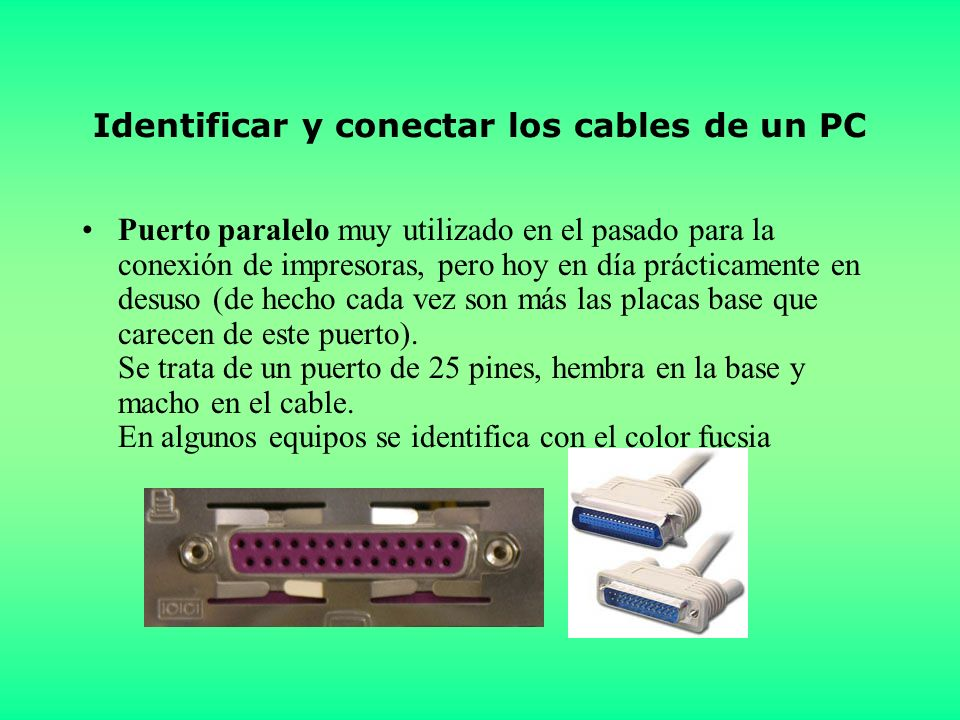 Identificar y conectar los cables de un PC