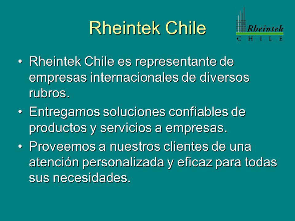 Rheintek Chile Rheintek Chile es representante de empresas internacionales de diversos rubros.