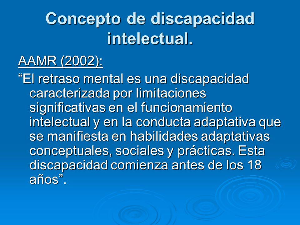 Concepto de discapacidad intelectual.