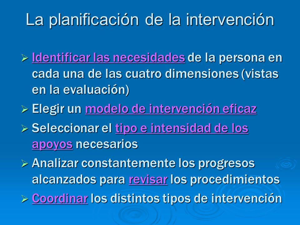 La planificación de la intervención