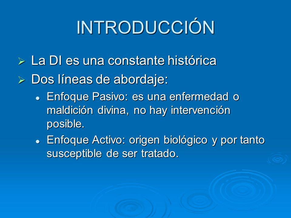 INTRODUCCIÓN La DI es una constante histórica Dos líneas de abordaje: