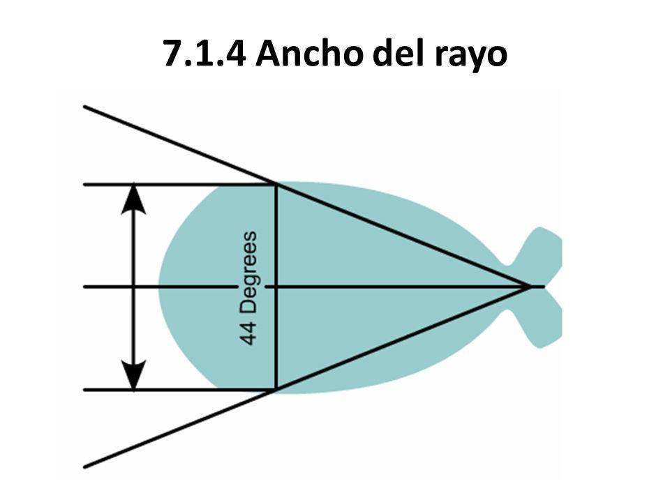 7.1.4 Ancho del rayo