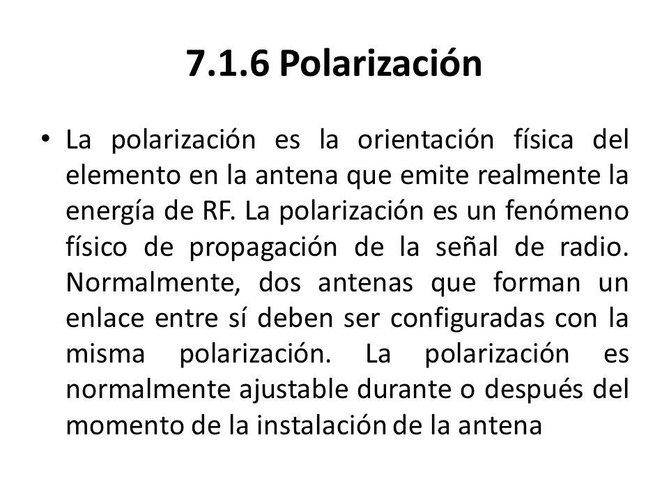 7.1.6 Polarización