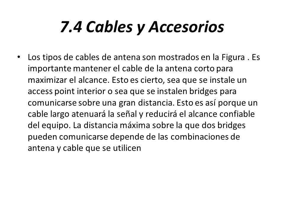 7.4 Cables y Accesorios