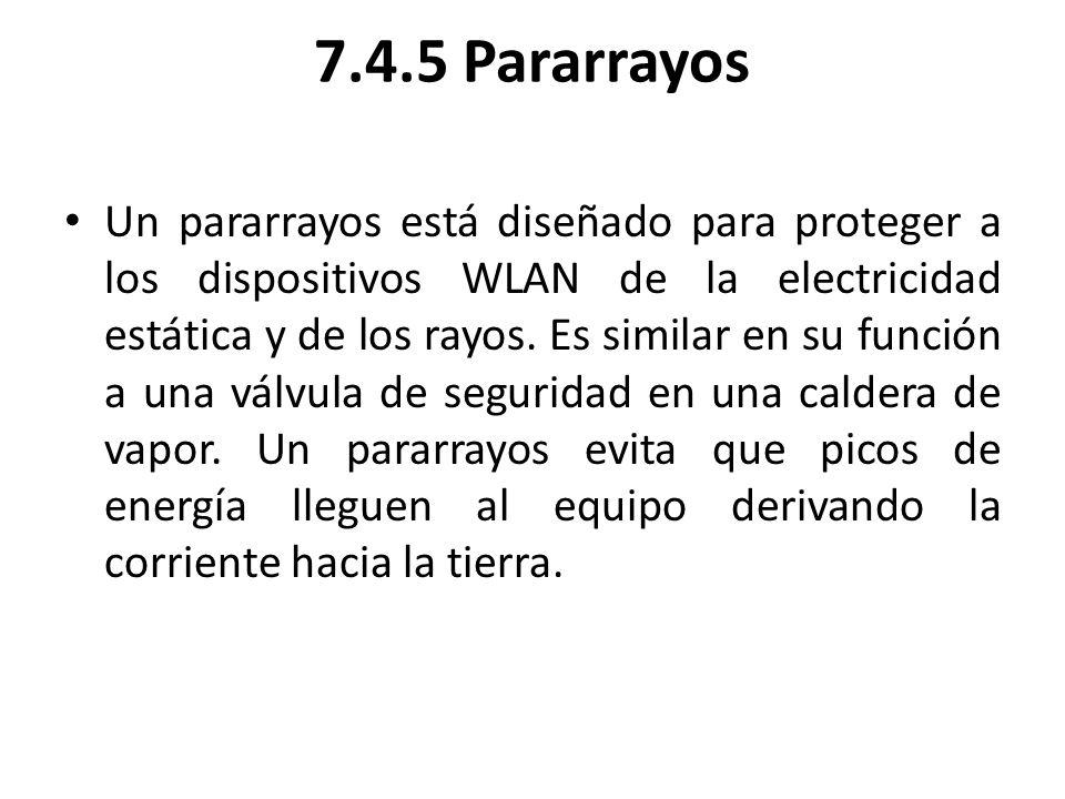 7.4.5 Pararrayos