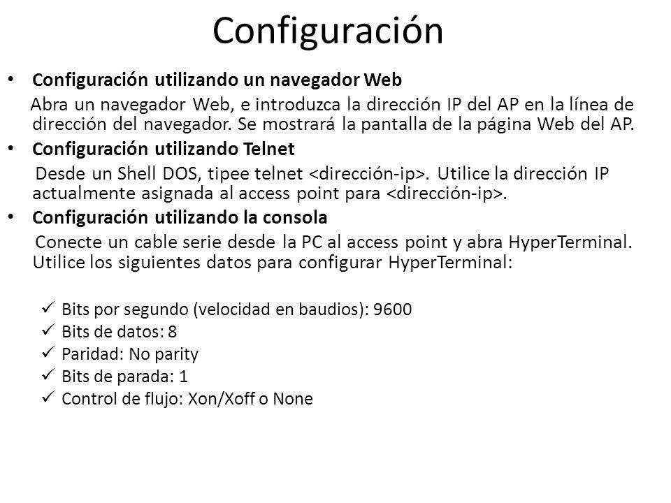 Configuración Configuración utilizando un navegador Web