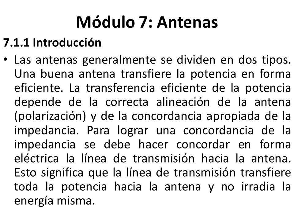 Módulo 7: Antenas 7.1.1 Introducción