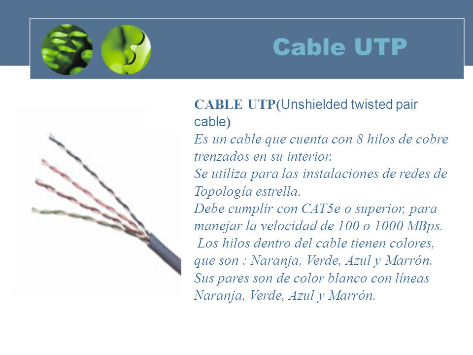 Cable UTP CABLE UTP(Unshielded twisted pair cable)