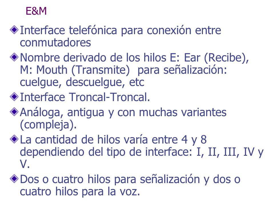 Interface telefónica para conexión entre conmutadores