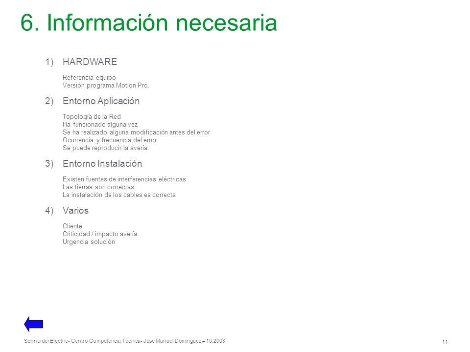6. Información necesaria