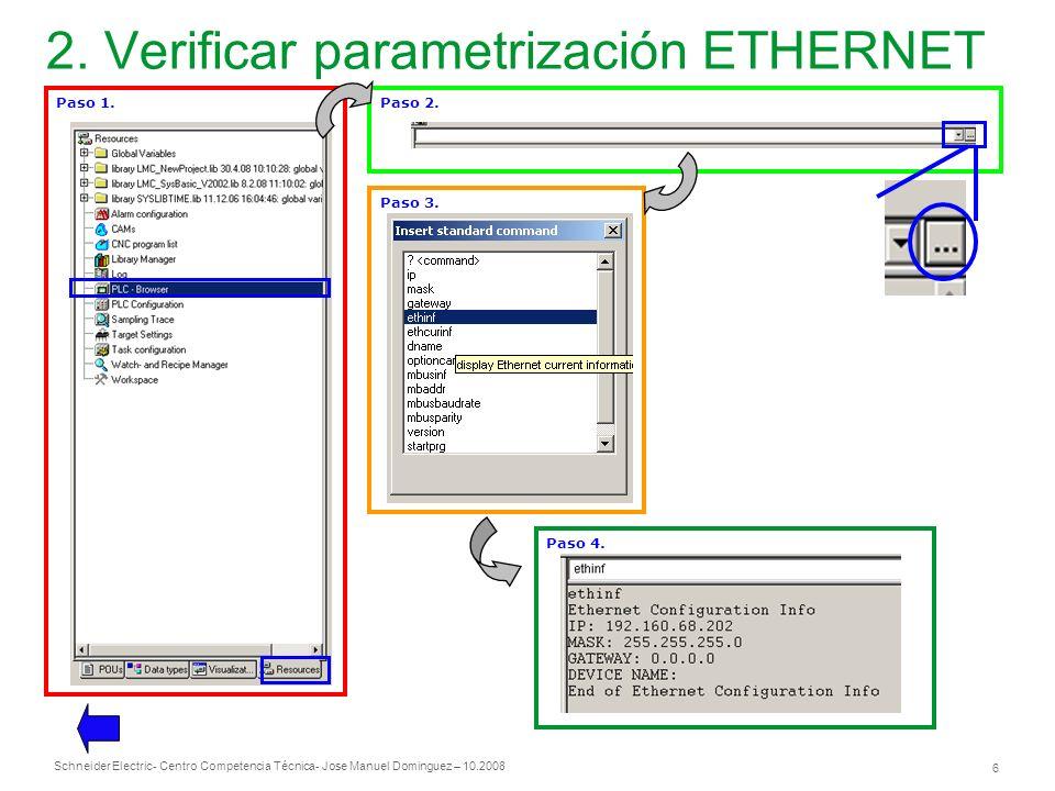 2. Verificar parametrización ETHERNET