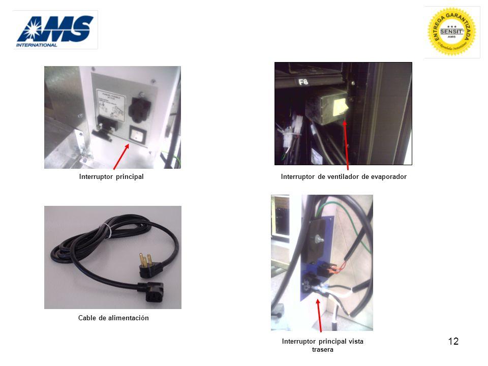 Interruptor de ventilador de evaporador Interruptor principal