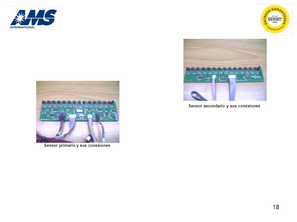 Sensor secundario y sus conexiones Sensor primario y sus conexiones