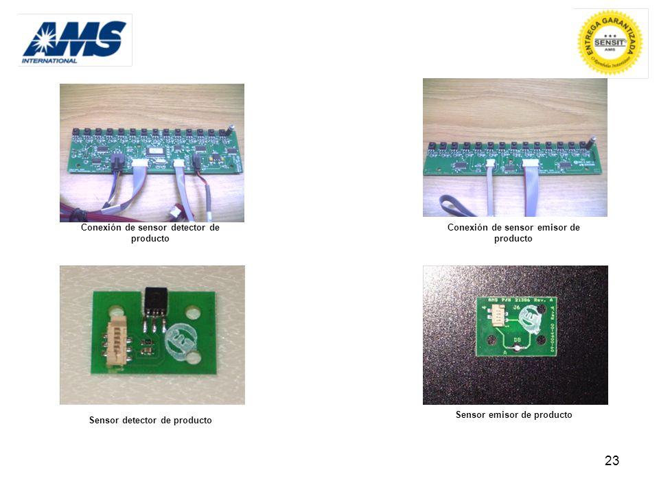Conexión de sensor emisor de producto