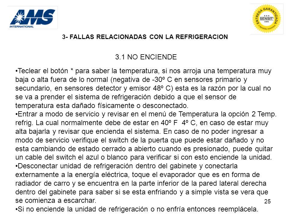 3- FALLAS RELACIONADAS CON LA REFRIGERACION