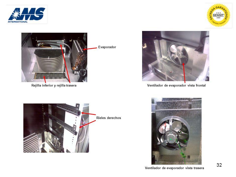 Ventilador de evaporador vista frontal