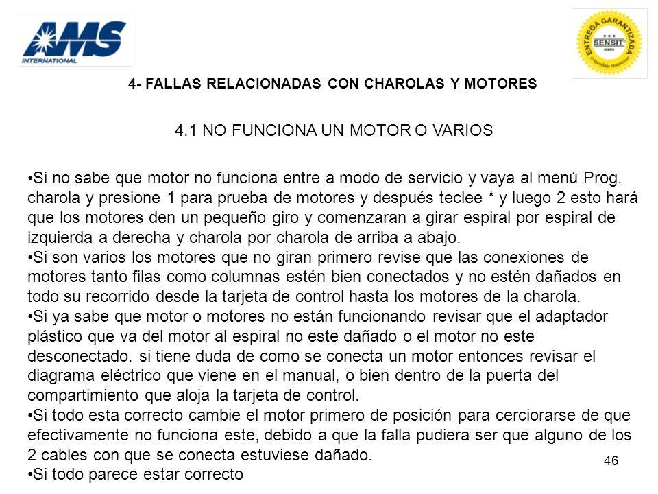 4.1 NO FUNCIONA UN MOTOR O VARIOS